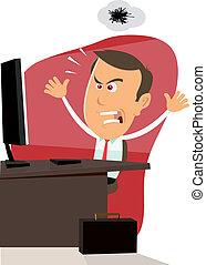 travail ordinateur, -, 404, erreur, bogue