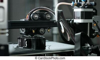 travail, pendant, imprimante, dimensionnel, trois, plastique
