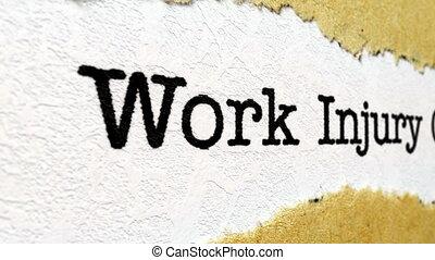 travail, réclamation, blessure