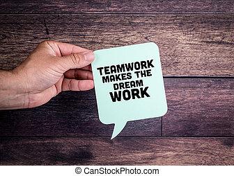 travail, rêve, marques, collaboration