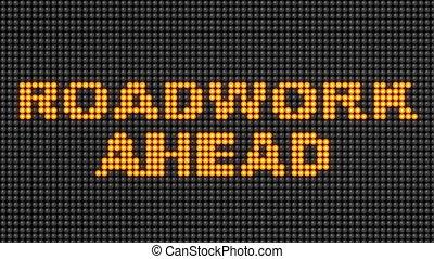 travail routier, devant, signe