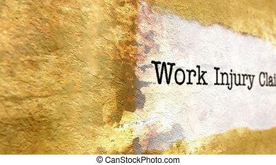 travail, texte, blessure, grunge, réclamation