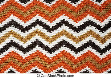 travail, tricot, zigzag