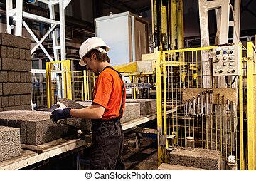 travail, usine, chargeur