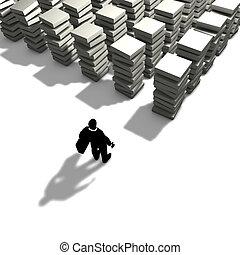 travail, volonté, organiser, sien, homme