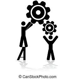 travailler ensemble, équipe