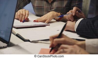 travailler ensemble, gens bureau, planification, nouveau, stratégie