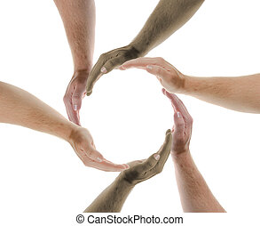 travailler ensemble, nations