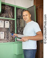 travaux, électricien, électrique