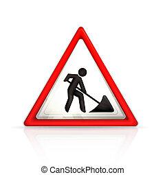 travaux routiers, signe
