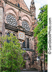 clock tower of Strasbourg cathedral