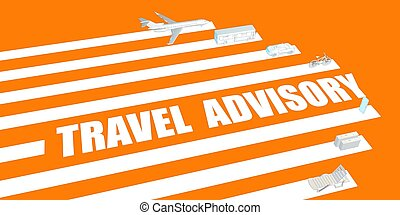 Travel Advisory for Post Pandemic Recovery Concept
