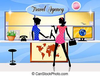 Travel agency - illustration of travel agency