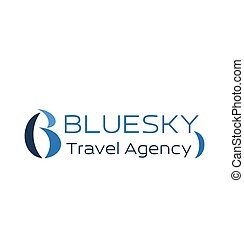 Travel agency icon for business card design