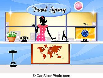 illustration of travel agency