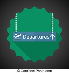 Travel Airport Departures Flat icon vector background