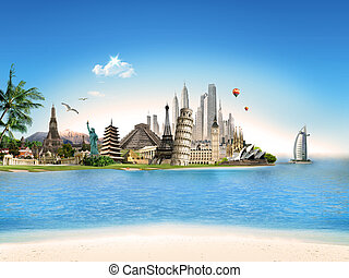 Travel all around the world - Tourism - world famous places...