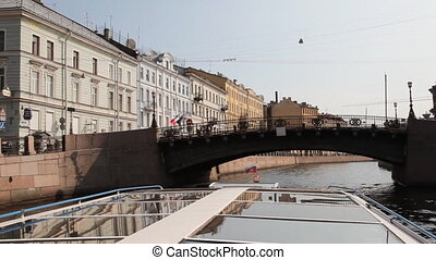 Travel along Griboedov channel  in  - View from the boat