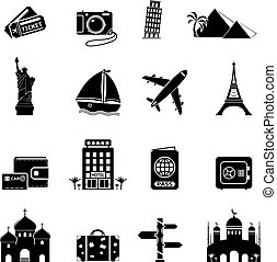Travel and Landmarks Icons