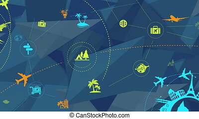 The video design is an Fashionable infographic on the Abstract background. Advertise your new holiday destinations, competitions, last minute deals, promotions and vacation hot spots.
