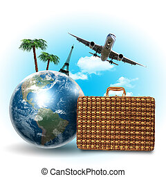 Travel and tourism collage