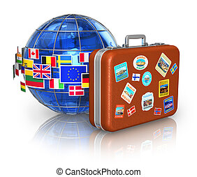 Travel and tourism concept - Travel around the world and...