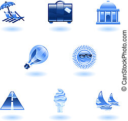 Travel and tourism icon set