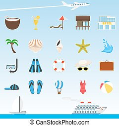 Travel and tourism icons.