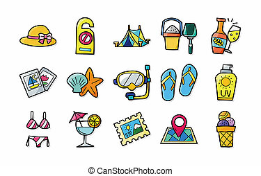 Travel and tourism icons set,