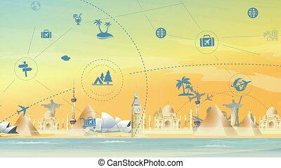 Travel And Tourism Landmark Background