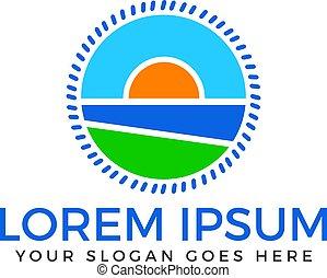 Travel and tourism vector logo design.