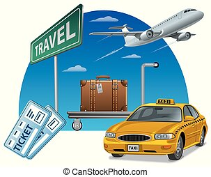 travel and transport with tickets