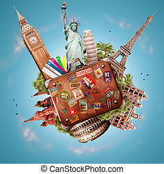 Travel and trip - A collage on the theme of travel and ...