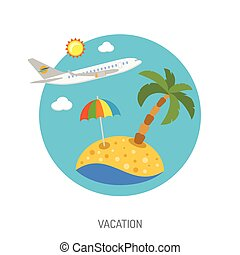 Vacation Flat Icon