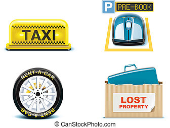 Travel and vacations icons. P.2
