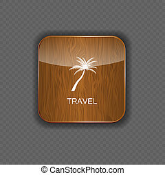 Travel application icons vector illustration