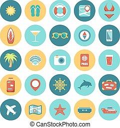 travel., applications., satz, webikon, beweglich, wohnung