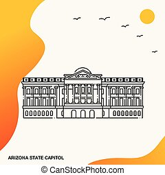 Travel ARIZONA STATE CAPITOL Poster Template