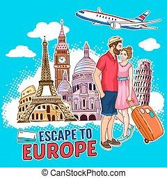 Travel Around Europe Design