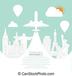 Travel around the world EPS10