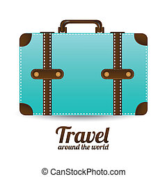 travel arround the world over white background vecor...