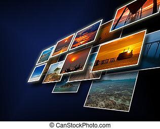 travel background - Artwork of travel from landscape...