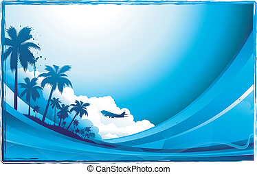 travel background - travel beach background