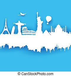 Travel Background - illustration of of travel background ...