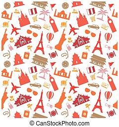travel background, pattern