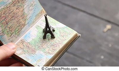 Travel background, trip to France idea.