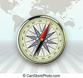 Travel background with compass