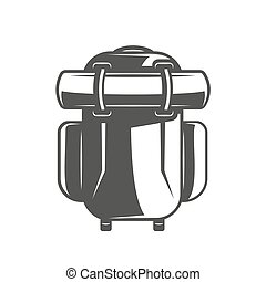 Travel backpack isolated on white background