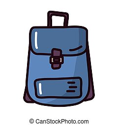 travel bag fill style icon