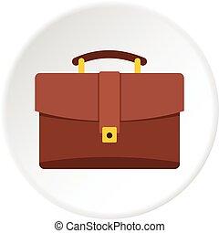 Travel bag icon circle